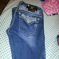 Miss me jeans They are in good shape just don't wear cause they too short on me they are a size 26 waist and 32 length Miss Me Jeans Boot Cut
