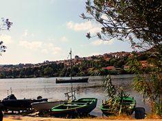 """Torre Faro (ME) - Uno dei due laghi profondi e pescosissimi in località Ganzirri in prossimità di Capo Peloro, una delle tre """"punte"""" della Sicilia   da Lorenzo Sturiale"""