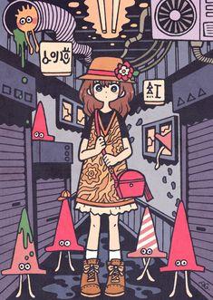 Sketchbook Inspiration, Art Sketchbook, Pretty Art, Cute Art, Character Art, Character Design, Painting Of Girl, Cartoon Art Styles, Kawaii Art