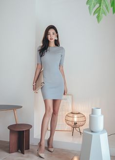 Korean Beauty, Asian Beauty, Chic Outfits, Fashion Outfits, Formal Chic, Beautiful Asian Women, Beautiful Legs, Asian Model Girl, Professional Outfits