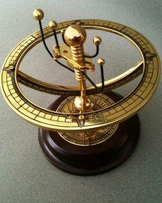 Vintage Franklin Mint Celestial Orrery (planetarium) in Solid Brass