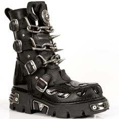 Amazon.com: New Rock Boots Style 727 S1 Black: Shoes