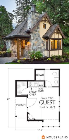 Tiny house and blueprint guest plans with pool cottage . house plans with guest cottage amazing farmhouse pool small . Tiny House Plans, House Floor Plans, Small House Plans Under 1000 Sq Ft, Tiny Home Floor Plans, Tiny House Kits, Vintage House Plans, Future House, Little Houses, Tiny Houses