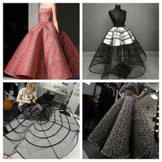 "Beautiful unique ""wave"" or ""ruffle"" hoop skirt Fashion Sewing, Diy Fashion, Ideias Fashion, Fashion Dresses, Circle Skirt Pattern, Gown Pattern, Dress Sewing Patterns, Clothing Patterns, Skirt Patterns"