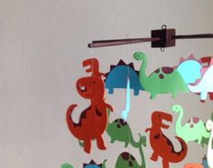 Items similar to Dinosaurs Decorative Baby Mobile in Extra Large - Choose Your Design on Etsy