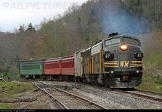 RailPictures.Net Photo: WM 67 West Virginia Central Railroad EMD FP7 at Cheat Bridge, West Virginia by Jeff Terry