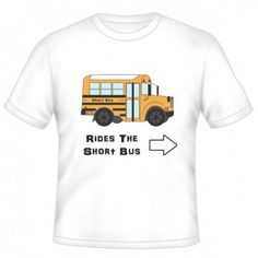 RIDES THE SHORTBUS GRAPHIC T-SHIRT