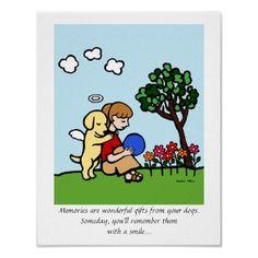 Yellow Labrador Angel Print for Labrador Moms