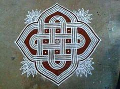 Design Tattoo Art Sacred Geometry Ideas For 2019 Rangoli Kolam Designs, Rangoli Ideas, Kolam Rangoli, Mehandi Designs, Kolam Dots, Rangoli With Dots, Geometric Bear, Geometric Flower, Book Cover Design