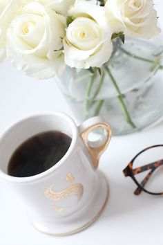 coffee and flowers <3