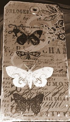 Tim Holtz mix media wonderful tag!
