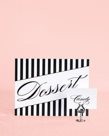 Printable labels/signage for a dessert or candy table