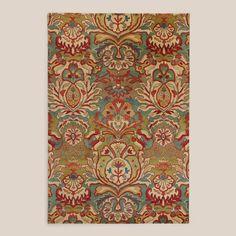 Floral Medallion Tufted Wool Rug | World Market