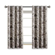 H.Versailtex Traditional Foral Blackout Grommet Curtains 2-Pack