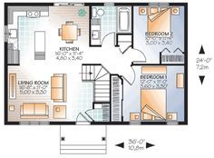 Compact Cottage House Plan - 22379DR | Architectural Designs - House Plans