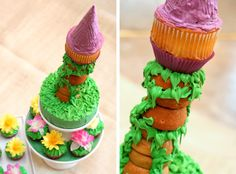 disney wedding cake toppers | Pin Disney Tangled Rapunzel Birthday Cake And Cupcakes Cake on ...