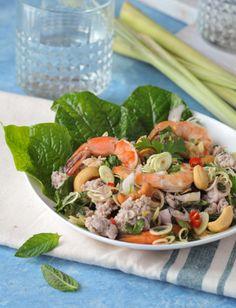 Thai Lemongrass Salad with a pork and shrimp