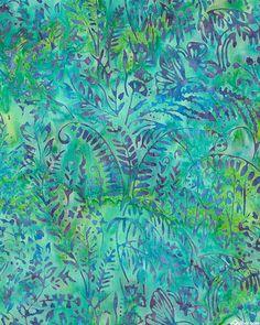 Fairy Garden Batik - Turquoise