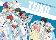 Kiseki no Sedai (Generation Of Miracles) - Kuroko no Basuke Midorima Shintarou, Kise Ryouta, Kuroko Tetsuya, Akashi Seijuro, Kuroko No Basket, Anime Basket, Manga Anime, Manga Boy, Fanfiction