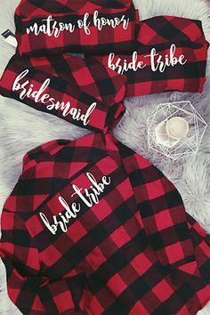 f1006ce6b819 Flannel Bridesmaids Shirts (Page 1 of 1). Flannel WeddingWedding ...