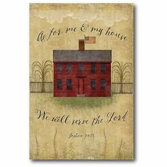 "Courtside Market Primitive House 16"" X 22"" Canvas Wall Art Beige"