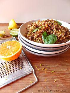 Duo quinoa riz rouge aux agrumes