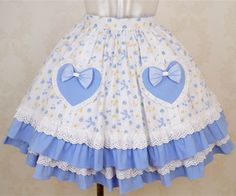 Sweet Lolita Skirt With Heart Pockets