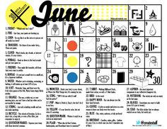 My sister helped create this calendar! Yay #30DOC 2012...