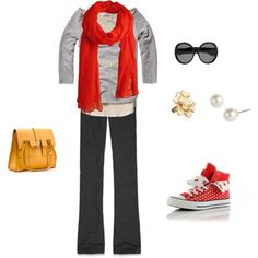 Showing how to dress up a yoga outfit..., created by jennifer-elmore-pascual.polyvore.com