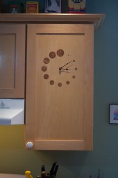 DIY kitchen cupboard clock #lasercut