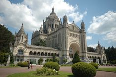 The Basilica of Lisieux, built in 1925 to honor St. Therese.