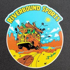 New Riverbound stickers are in! Always having fun in the desert! Paddleboarding, Porsche Logo, Rv, Arizona, Stickers, Logos, Instagram Posts, Sports, Hs Sports