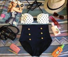 Cute high waist bikini