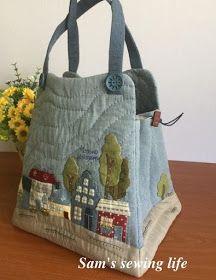 Sam's sewing life: 房子拼布提袋
