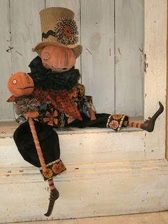 Halloween Fabric Crafts, Halloween Doll, Diy Halloween Decorations, Holidays Halloween, Vintage Halloween, Halloween Pumpkins, Halloween Party, Fall Crafts, Halloween Ideas