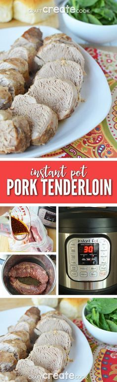 This instant pot pork tenderloin recipe will have dinner on the table in 45 minutes.