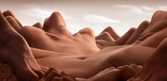"""THE HUMAN LANDSCAPES BY CARL WARNER - The """"Bodyscapes"""" series created by British photographer Carl Warner, based in London, who turns human bodies, the folds of the skin and muscles, into real landscapes…"""