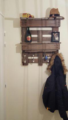 Porte manteau bois de palette