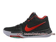 328d0e3ab14 Nike Kyrie 3 ID 852395 ID5 Noires Rouge Chaussures Nike Officiel prix Pour  Homme Nike Officiel
