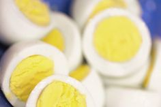 Hard-boiled eggs are a good source of protein.