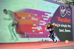 July 2014.Virgin Media used engagement marketing to create an interactive experience called 'Race Bolt', located on Glasgow Green and ran throughout the games. Participants raced a virtual version of the world's fastest man, Usain Bolt, over 30 metres on a professional athletics track against a three-metre high LED screen and infrared sensors recorded the fastest times on a leader board.