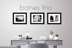 Three Framed Photos/Wall Decor/Dorm Decor/Truck Decor/Home