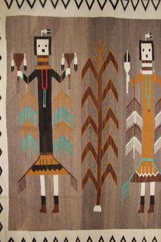 Large Navajo Rug : Excellent Very Large Navajo Yei Weaving 96 Navajo Weaving, Navajo Rugs, American Indian Art, Native American Indians, Native Americans, American Decor, Navajo People, Weaving Tools, Mandalas