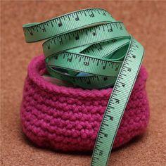 Knit Ribbons - Tape Measure Mint