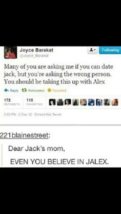 SHE BELIEVES IN JALEX.