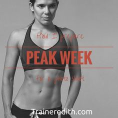 """Fitness models don't just """"wake up like this"""" and go to a shoot. A lot of hard work and prep goes into getting photoshoot or competition ready. The week leading up the event is the most important. We call it peak week - and it can make or break you."""