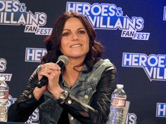 Lana Parrilla at Heroes and Villains Fan Fest, 2015