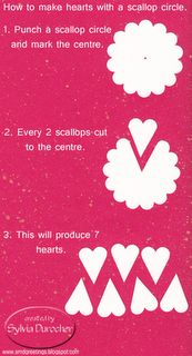 Tutorial: Hearts created with a scallop punch - great idea!