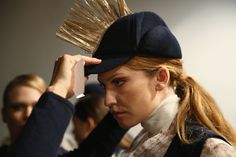 #AsliJackson #Backstage #MercedesBenzFashionWeekIstanbul #Fall #Winter2015 #Nasreddin #Hoca #model #hat