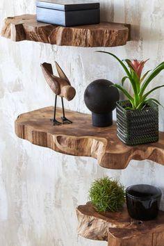 Rustic Wooden Shelves, Wood Wall Shelf, Diy Wood Shelves, Living Room Wall Shelves, Small Wooden Shelf, Rustic Wood Wall Decor, Reclaimed Wood Floating Shelves, Live Edge Shelves, Small Shelves
